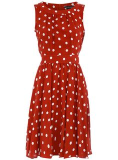 polka-dot dress really cute