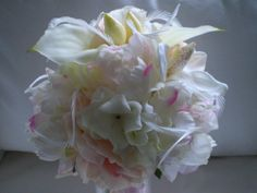 SPECTACULAR SIGHT Wedding Bouquet And Boutonniere by Ardesign, $125.00