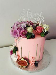 Pink upside down cake by Petra_Kostylkova
