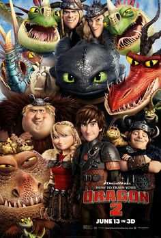 How to Train Your Dragon 2. Amazing movie!! I this is one of my favorite movie series. Both were amazing! :D