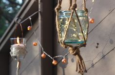 You might want to grab a glass jar when you see this stunning idea for your porch decor!