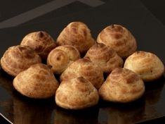 """Gougeres - This traditional French """"cheese puff"""" is an example of how Julia recognized that a few simple ingredients can combine to form something memorable. #JC100"""