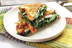 Grilled Goat Cheese and Dandelion Greens Sandwich