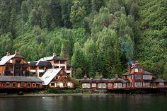 Vista do Puyuhuapi Lodge & Spa, em Puyuhuapi, na Patagônia chilena (foto: Eduardo Vessoni)