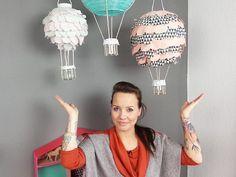 Heißluftballon Kinderzimmer diy anleitung heißluftballon le für das kinderzimmer basteln via