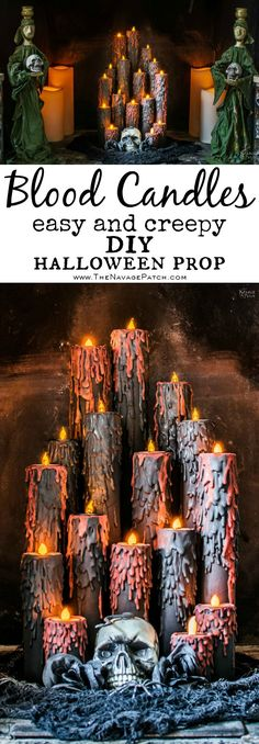 Blood Candles halloween halloween manualidades halloween diy halloween proyectos Source by shalynro Halloween Tags, Halloween Candles, Creepy Halloween, Holidays Halloween, Diy Halloween Props, Halloween Snacks, Halloween Witches, Halloween Horror, Halloween Stuff
