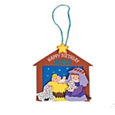 """Celebrate His birth with this religious craft for kids. These """"Happy Birthday Jesus"""" Christmas Ornament are an inspirational crafts for Sunday School classes to"""