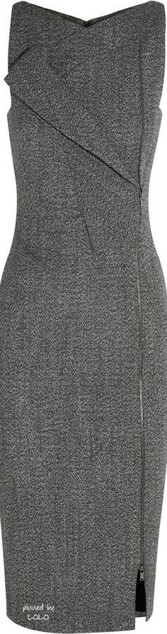 Antonio Berardi Gray Alpaca blend Dress