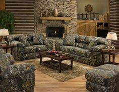 Jackson Furniture Big Game Mossy Oak Camo Sofa and Loveseat Set 3606-3/2