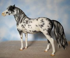 Black Sabino Rastus Resin By Sculptor Kitty Cantrell and Painter Kimberley Burd - model horse