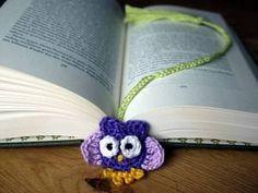 Eulenlesezeichen gehäkelt - *crochet* bookmark owl