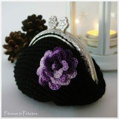 "Pitusas & Petetes: ""Black crochet coin purse"""