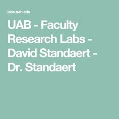 UAB - Faculty Research Labs - David Standaert - Dr. Standaert
