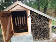 Once upon a time every home had a DIY smokehouse in the backyard. The homemade smokehouse was used as a meat smoker and food smoker to preserve the food raised… Smoke House Plans, Smoke House Diy, Outdoor Projects, Easy Diy Projects, Outdoor Smoker, Backyard Smokers, Diy Smoker, Home Smoker, Homemade Smoker