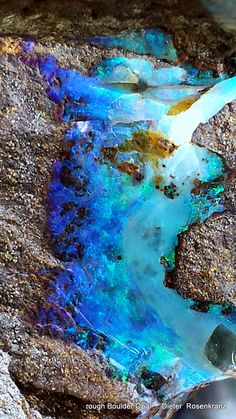 rough Boulder Opal #pixiecrystals - makes me laugh callling gem stones like this 'rough' (i know it means 'uncut') but still, it doesn't look 'rough' in many other senses of the word! Wow Opal.