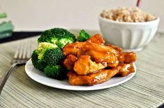 General Tso chicken...adding to next week's meal plan; I think I'll probably just brown in in a skillet, and then add to the crockpot with the sauce ingredients after they're cooked :)