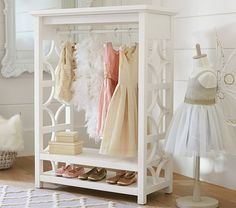 Pottery Barn Kids' bedroom furniture is designed for quality and safety. Shop kids furniture to decorate with your personality and theirs. Dress Up Wardrobe, Kids Wardrobe, Wardrobe Rack, Dress Up Closet, Open Wardrobe, Bedroom Wardrobe, Wardrobe Design, Playroom Furniture, Kids Furniture