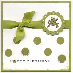 Joanne BDay by MrsNemo - Cards and Paper Crafts at Splitcoaststampers Card Crafts, Diy And Crafts, Paper Crafts, Simply Stamps, Animal Cards, Stamp Sets, Kids Cards, Frogs, Handmade Cards