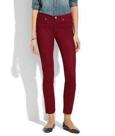 [blanknyc] skinny color jeans in rhubarb