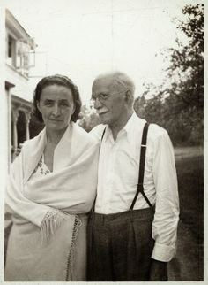 Never-before-seen photo . . . Georgia O'Keeffe and Alfred Stieglitz, unidentified date, unidentified photographer, Georgia O'Keeffe Research Center Chronicling Georgia O'Keeffe