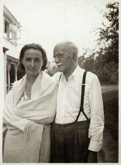 Never-before-seen photo . . . Georgia O'Keeffe and Alfred Stieglitz, unidentified date, unidentified photographer, Georgia O'Keeffe Research Center Chronicling Georgia O'Keeffe
