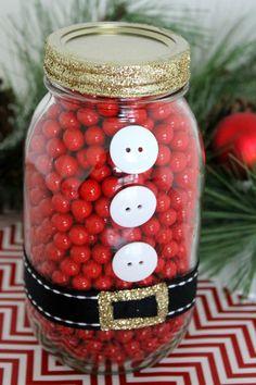 Santa Mason Jar DIY | CatchMyParty.com