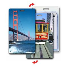 Lenticular Luggage Bag Travel Tag Cable Car Golden Gate Bridge #LT01-229 from Lantor Ltd., $3.95: This luggage tag, with its exciting lenticular flip effect, makes a great Bay Area-themed visual cue to help you find your luggage in those busy airports. The luggage tag flips between two classic landmarks of San Francisco, including the famous cable cars and the Golden Gate Bridge. Click here to purchase…