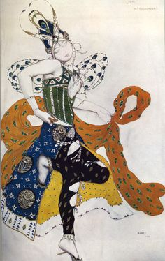 Leon Bakst was an extraordinary costume and scene designer who was closely associated with artists like Sergei Diaghilev and Alexandre Benois. He produced many designs for the Ballets Russes, some of which we present here.
