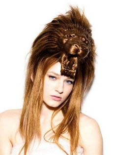 Weird, Creative  Funny Animal Hairstyles....reminds me of the Ice Queen from Narnia
