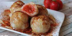 Tvarohovo-krupicové guľky s jahodami - Powered by A Food, Good Food, Russian Recipes, Pretzel Bites, Baked Potato, Sweet Tooth, Muffin, Potatoes, Healthy Recipes