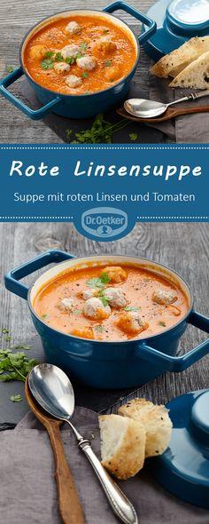 Rote Linsensuppe: Vegane Suppe mit roten Linsen und Tomaten - vegan, vegetarisch, lactosefrei
