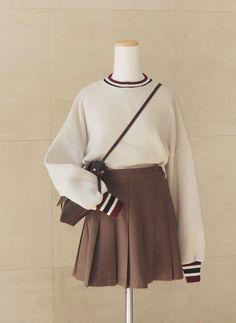 fashion, kfashion, and skirt image Kawaii Dress, Kawaii Clothes, Girls Fashion Clothes, Teen Fashion Outfits, Kawaii Fashion, Cute Fashion, Cute Casual Outfits, Pretty Outfits, Korean Girl Fashion