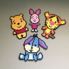 Winnie the Pooh and friends hama perler beads by christina_eats: Perler Bead Designs, Perler Bead Templates, Hama Beads Design, Perler Bead Disney, Diy Perler Beads, Perler Bead Art, Winnie Poo, Winnie The Pooh, Pixel Beads