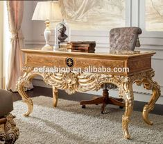 OE-FASHION luxury wooden carving home gold color office desk and chair furniture, View antique wood office desk furniture, OE-FASHION Product Details from Foshan Oe-Fashion Furniture Co., Ltd. on Alibaba.com