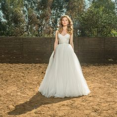 Lace wedding dress with silk tulle princess by MotilFineDesign