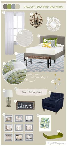 Custom Mood Boards | Cape27Blog.com - Love the decor and the colors