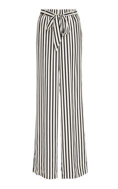 Striped Crepe de Chine Pajama Pants by FRAME DENIM Now Available on Moda Operandi