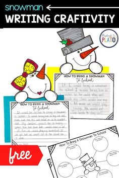 Get students excited about writing with this festive winter craftivity! Children will love dreaming up ideas about how to bring a snowman to school and you'll love that it's so quick to prep. Our snowman craftivity is such a great way to help students think outside the box! This frosty family looks so festive hanging in the hall or as a part of your winter classroom décor! Kindergarten Writing Activities, Reading Activities, Winter Activities, Classroom Décor, Sight Word Practice, Cvc Words, Word Families, Literacy Centers, Snowman