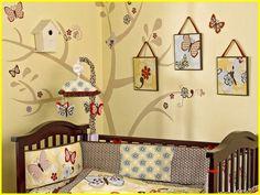Tree painted on wall Nursery Room, Kids Bedroom, Baby Room, Kids Rooms, Nursery Ideas, Enchanted Forest Nursery, Brown Nursery, Kids Decor, Decor Ideas