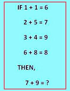 Solve the maths picture puzzle