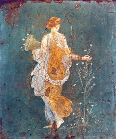 Fresco of Flora at Pompeii