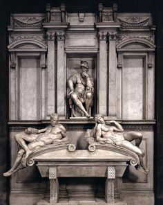 The tombs of Lorenzo and Giuliano de' Medici, Florence | Michelangelo.
