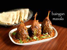 baingan masala recipe, brinjal masala recipe, eggplant masala curry with step by step photo/video. a stuffed baingan recipe simmered in tomato onion sauce.
