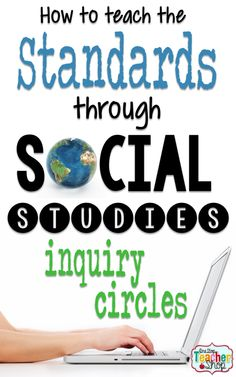 Here are some great ways to teach many common core standards through Social Studies inquiry circles. A great way to do research projects in the classroom! social study How to Teach the Standards through Social Studies Inquiry Circles 7th Grade Social Studies, Social Studies Classroom, Social Studies Activities, Teaching Social Studies, Teaching History, History Classroom, History Education, Common Core Social Studies, Social Studies Projects 5th