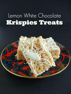 Lemon White Chocolate Krispies Treats | The Tasty Fork