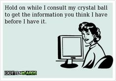 Dispatchers have crystal balls