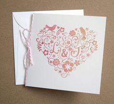 Herzen Hochzeit Inspiration--- Süß Hochzeitseinladung 2014 mit Herzen Design
