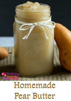 Move over apple butter, and say hello to this creamy Simple Slow Cooker Pear Butter Recipe. On toast, or on a fresh bagel with cream cheese - enjoy! Pear Recipes, Jelly Recipes, Dessert Recipes, Frosting Recipes, Healthy Recipes, Pear Butter, Apple Butter, Butter Tarts, Flavored Butter