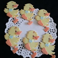 Yellow Rubber Ducky Figurines all Handmade of Cold Porcelain this Baby Ducks will add a perfect touch to your Cupcakes, Corsages, Favors ,Cakes and Centerpieces Decorations Excellent for Birthdays and