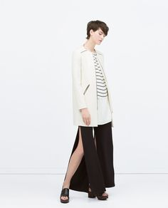 Image 2 of ZIPPED COAT WITH ROUND NECK from Zara